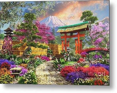 Fuji Flora Metal Print