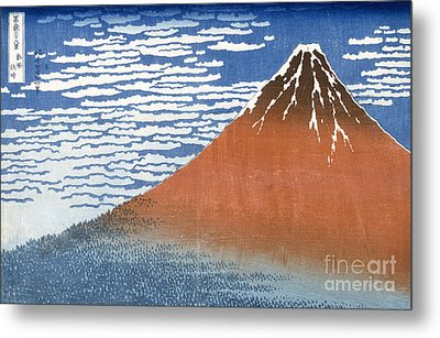 Fuji Mountains In Clear Weather Metal Print