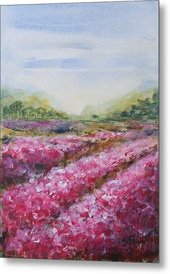 Metal Print featuring the painting Full Bloom by Jane  See