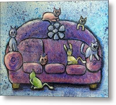 Metal Print featuring the mixed media Full House by Kenny Henson