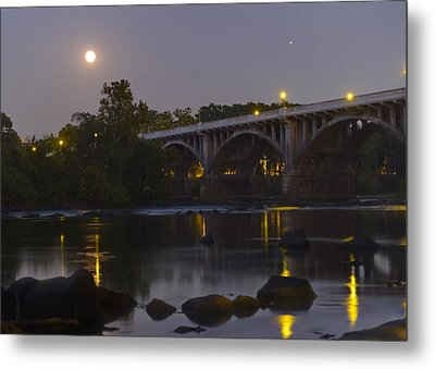Full Moon And Jupiter-1 Metal Print by Charles Hite