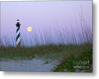Full Moon At Hatteras Metal Print by Laurinda Bowling