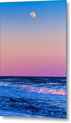 Full Moon At Sea Metal Print