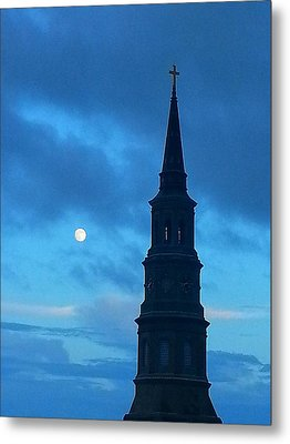 Metal Print featuring the photograph Full Moon In The Holy City by Joetta Beauford