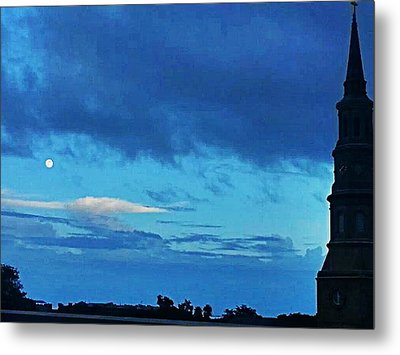 Full Moon In The Holy City Optimized Metal Print by Joetta Beauford