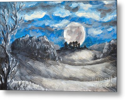 Full Moon Metal Print by Martin Capek