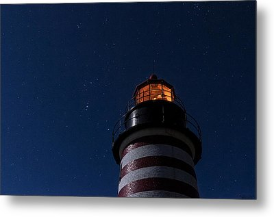 Full Moon On Quoddy Metal Print by Marty Saccone