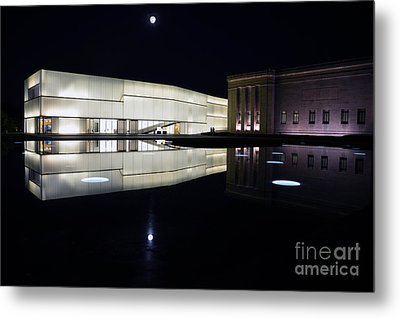 Full Moon Over Nelson Atkins Museum In Kansas City Metal Print