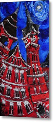 Full Moon Over Samford Metal Print by Carole Foret