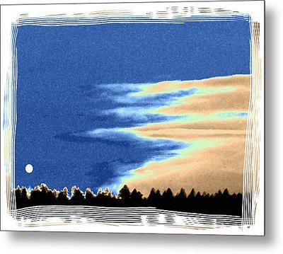 Full Moon Rising Metal Print by Will Borden