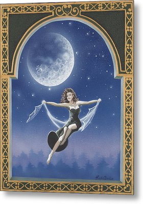 Full Moon Swing Metal Print by Nickie Bradley