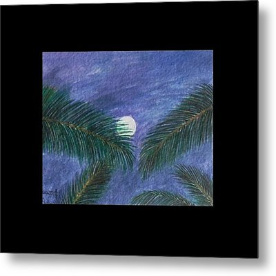 Full Moon Metal Print by Usha Rai