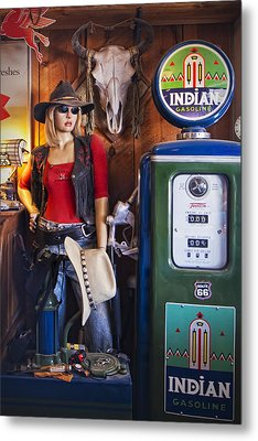 Full Service Route 66 Gas Station Metal Print by Priscilla Burgers