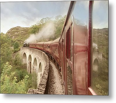 Metal Print featuring the photograph Full Steam Ahead by Roy  McPeak