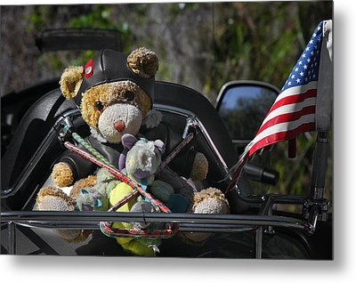 Full Throttle Teddy Bear Metal Print by Christine Till