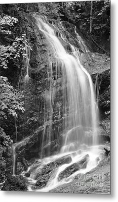 Fuller Falls Waterfall Black And White Metal Print