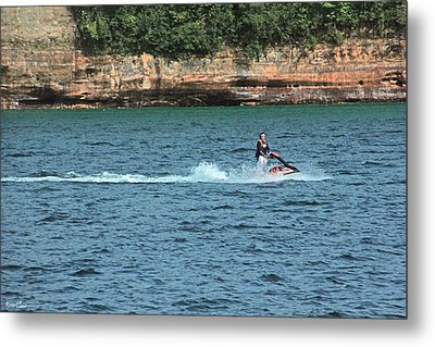 Fun At Pictured Rocks Metal Print by Bill Woodstock