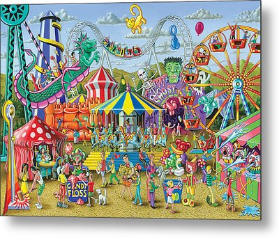 Fun At The Fairground Metal Print