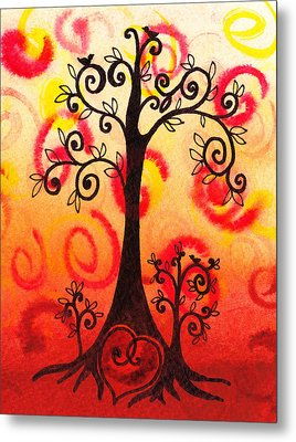 Fun Tree Of Life Impression Vi Metal Print