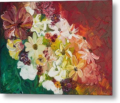 Fun With Flowers Metal Print