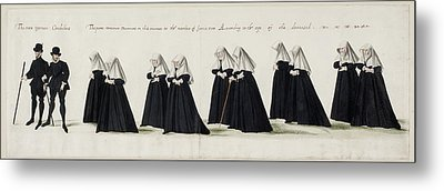 Funeral Procession Of Anne Of Cleves Metal Print