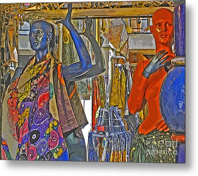 Funky Boutique Metal Print by Ann Horn