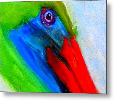 Funky Colorful Pelican Art Prints Metal Print