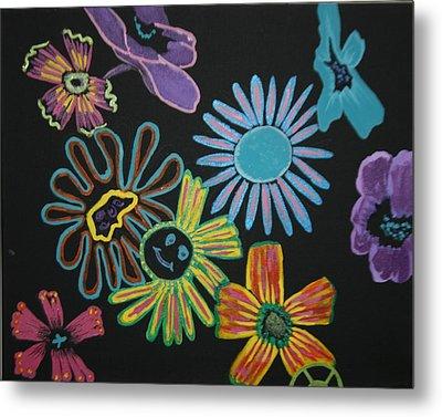 Funky Flowers Metal Print by Betty-Anne McDonald