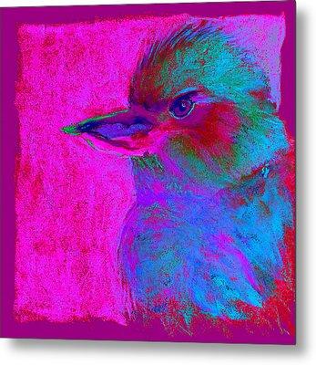 Funky Kookaburra Australian Bird Art Prints Metal Print