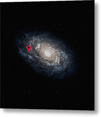 Funny Astronomy Universe  Nerd Geek Humor Metal Print by Philipp Rietz