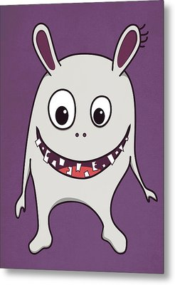 Funny Crazy Happy Monster Metal Print