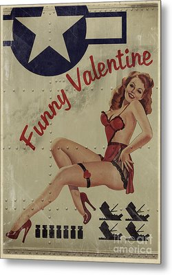 Funny Valentine Noseart Metal Print by Cinema Photography