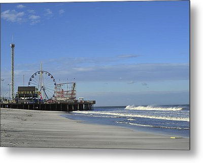 Funtown Pier Seaside Heights Nj Jersey Shore Metal Print by Terry DeLuco