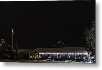 Funtown U.s.a. Decorated For Christmas Metal Print by Patrick Fennell