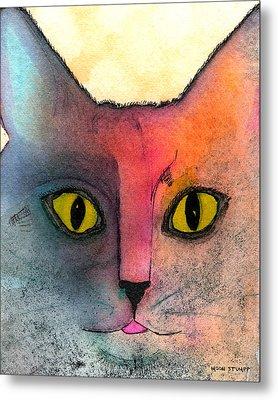 Fur Friends Series - Abby Metal Print