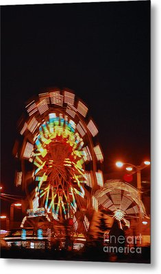 Fur Rondy Ferris Wheel In Anchorage Metal Print