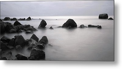 Furbo Beach Metal Print by Peter Skelton