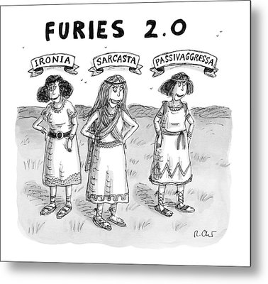 Furies 2.0 -- Ironia Metal Print