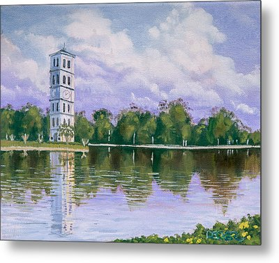 Furman University Clock Tower Metal Print