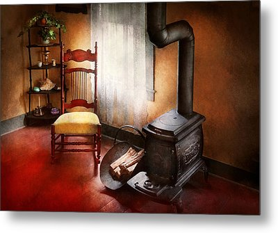 Furniture - Chair - Where She Spent Most Of Her Days Metal Print by Mike Savad