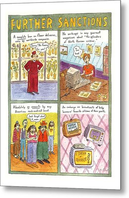 'further Sanctions' Metal Print by Roz Chast