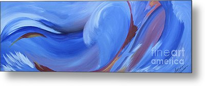 Fury Of The Sea Metal Print by Barbara Petersen