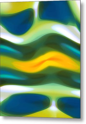Abstract Tide 3 Metal Print by Amy Vangsgard