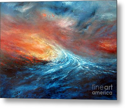 Fusion Metal Print by Valerie Travers