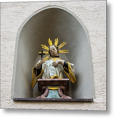 Fussen Old Town Religious Art - Germany Metal Print by Gary Whitton