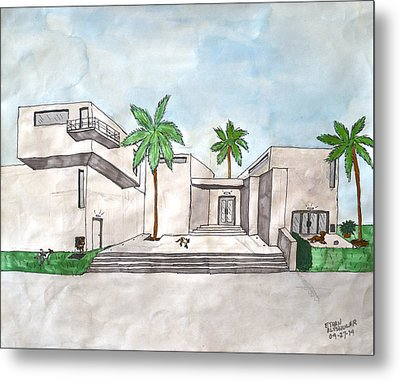 Architectural House  Metal Print by Ethan Altshuler