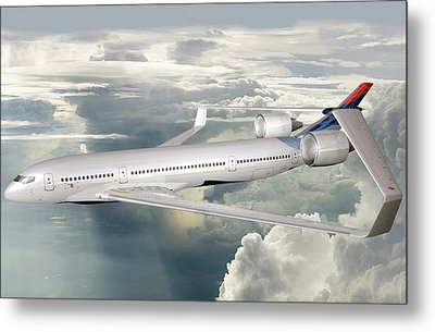 Future Hybrid Aircraft Metal Print by Nasa/lockheed Martin