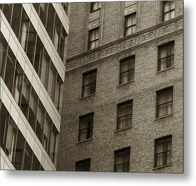Metal Print featuring the photograph Futures Past - Architecture Abstract  by Steven Milner
