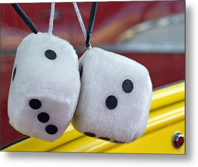 Fuzzy Dice Metal Print by Charlette Miller