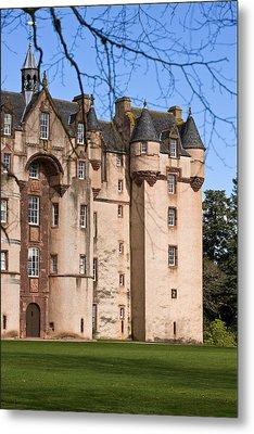 Metal Print featuring the photograph Fyvie Castle In Scotland by Liz  Alderdice